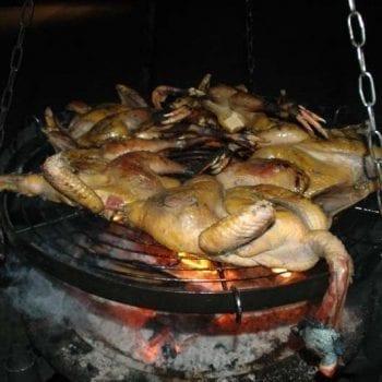 Guinea Fowls on Fire